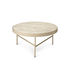 Travertine Coffee table - / Large - Ø 70.5 x H 35 cm by Ferm Living