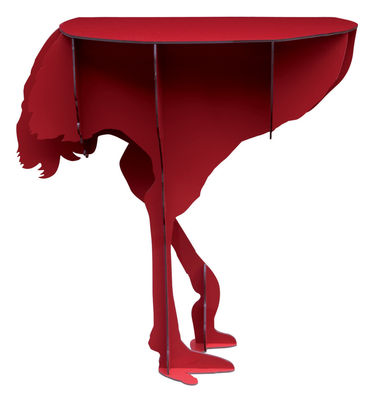 Furniture - Teen furniture - Diva Console by Ibride - Red - Compact stratified layers