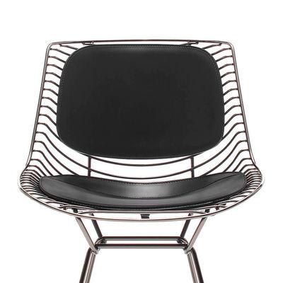 Mobilier - Chaises, fauteuils de salle à manger - Coussin assise & dossier cuir / Set 2 coussins pour chaise & fauteuil Flow Filo - MDF Italia - Cuir noir - Cuir sellier pleine fleur