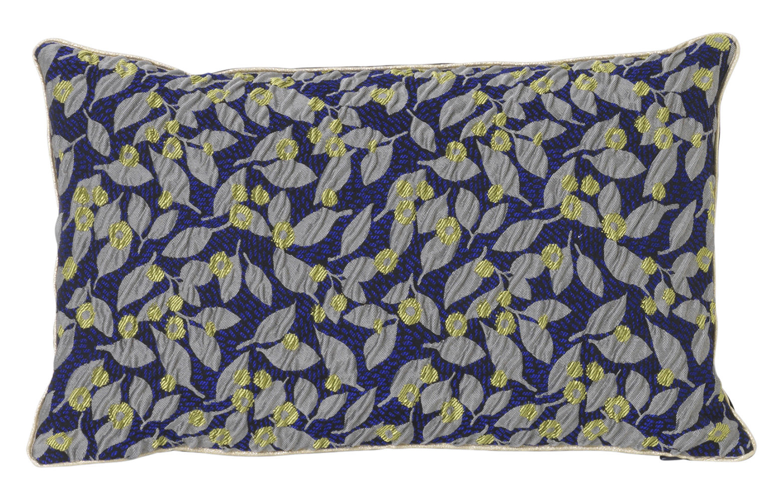 Déco - Coussins - Coussin Salon - Flower / 40 x 25 cm - Ferm Living - Bleu -  Plumes, Mélange de fibres, Velours