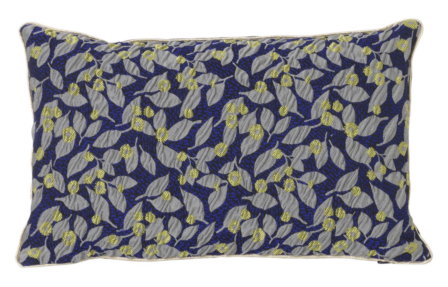 Interni - Cuscini  - Cuscino Salon - Flower - / 40 x 25 cm di Ferm Living - Blu - Mélange de fibres, Plumes, Velluto