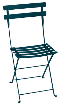 Furniture - Chairs - Bistro Folding chair - / Metal by Fermob - Acapulco blue - Lacquered steel