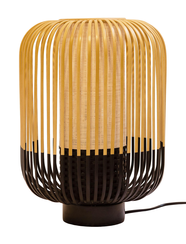 Illuminazione - Lampade da tavolo - Lampada da tavolo Bamboo Light - / H 39 x Ø 27 cm di Forestier - H 39 cm - Nero - Bambù naturale