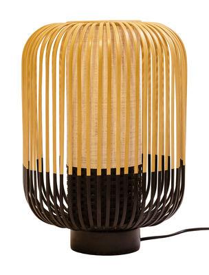 Lampe de table Bamboo Light / H 39 x Ø 27 cm - Forestier noir/bois naturel en bois