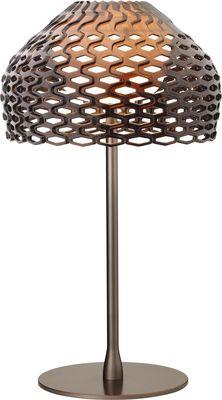 Lampe de table Tatou H 50 cm - Flos gris-ocre en matière plastique