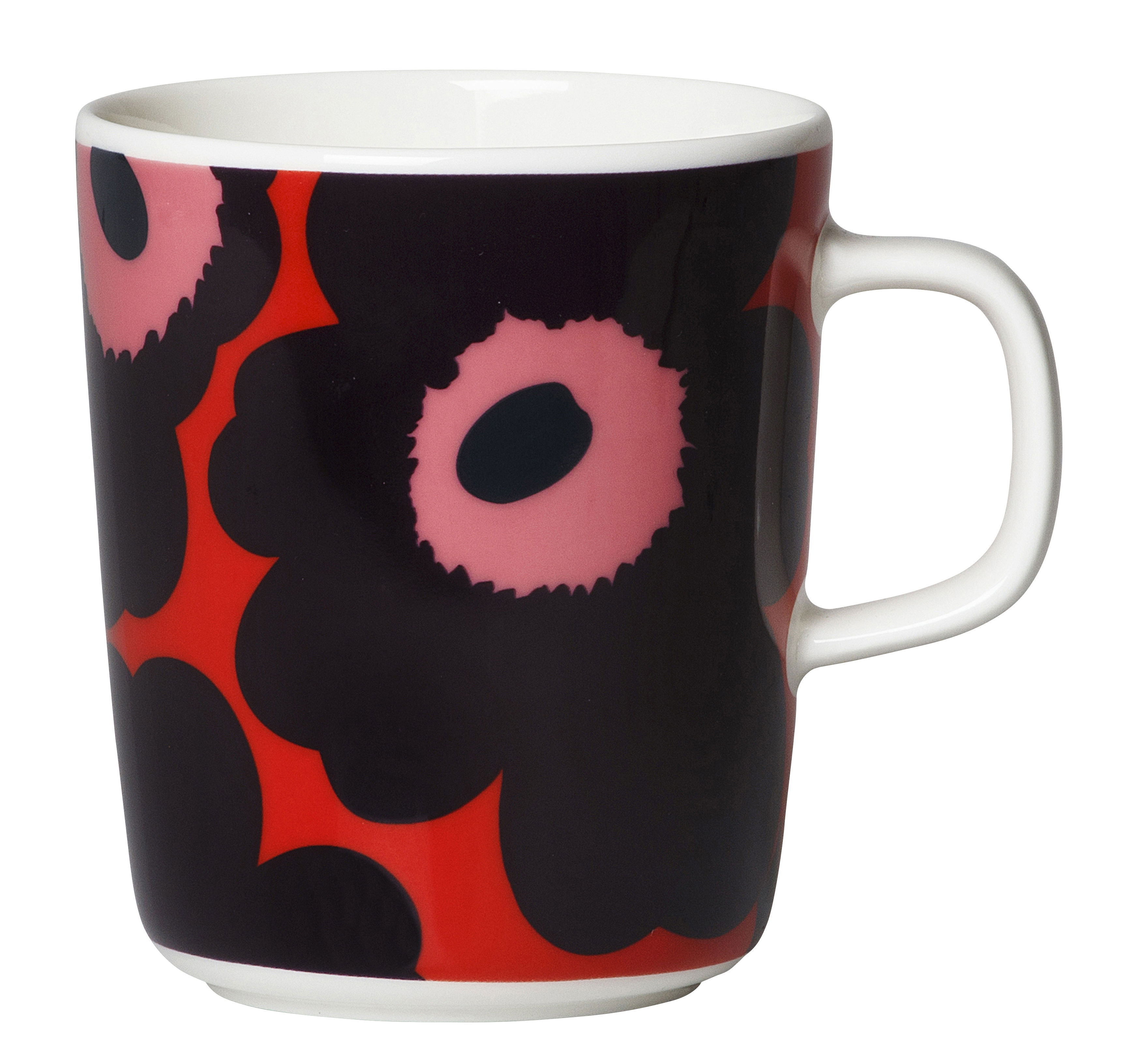 Arts de la table - Tasses et mugs - Mug Unikko / 40 cl - Marimekko - Unikko / Rouge, violet - Grès