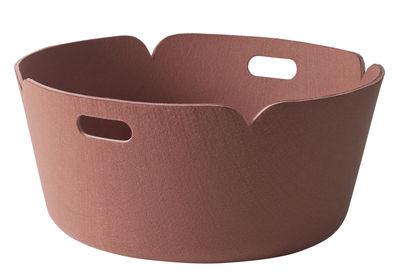 Déco - Corbeilles, centres de table, vide-poches - Panier Restore / Feutre - Ø 52 cm - Muuto - Rose - Feutre
