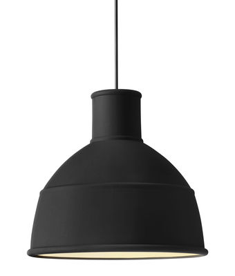 Lighting - Pendant Lighting - Unfold Pendant - Silicone by Muuto - Black - Silicone