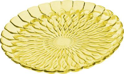 Plat Jelly /Centre de table - Ø 45 cm - Kartell jaune transparent en matière plastique