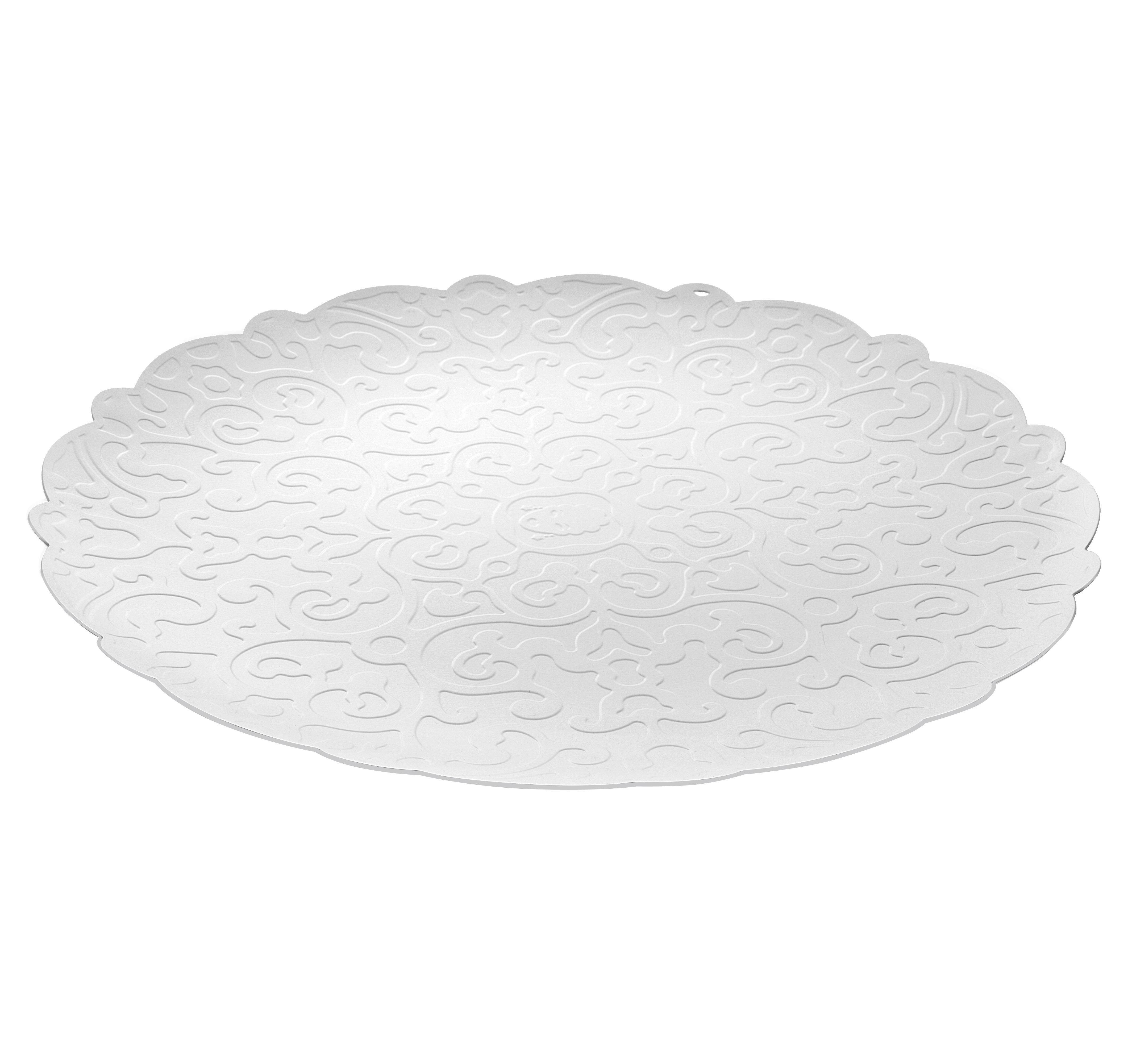 Arts de la table - Plateaux - Plateau Dressed Ø 35 cm / Sous-assiette - Alessi - Blanc - Acier inoxydable avec coloration résine époxy
