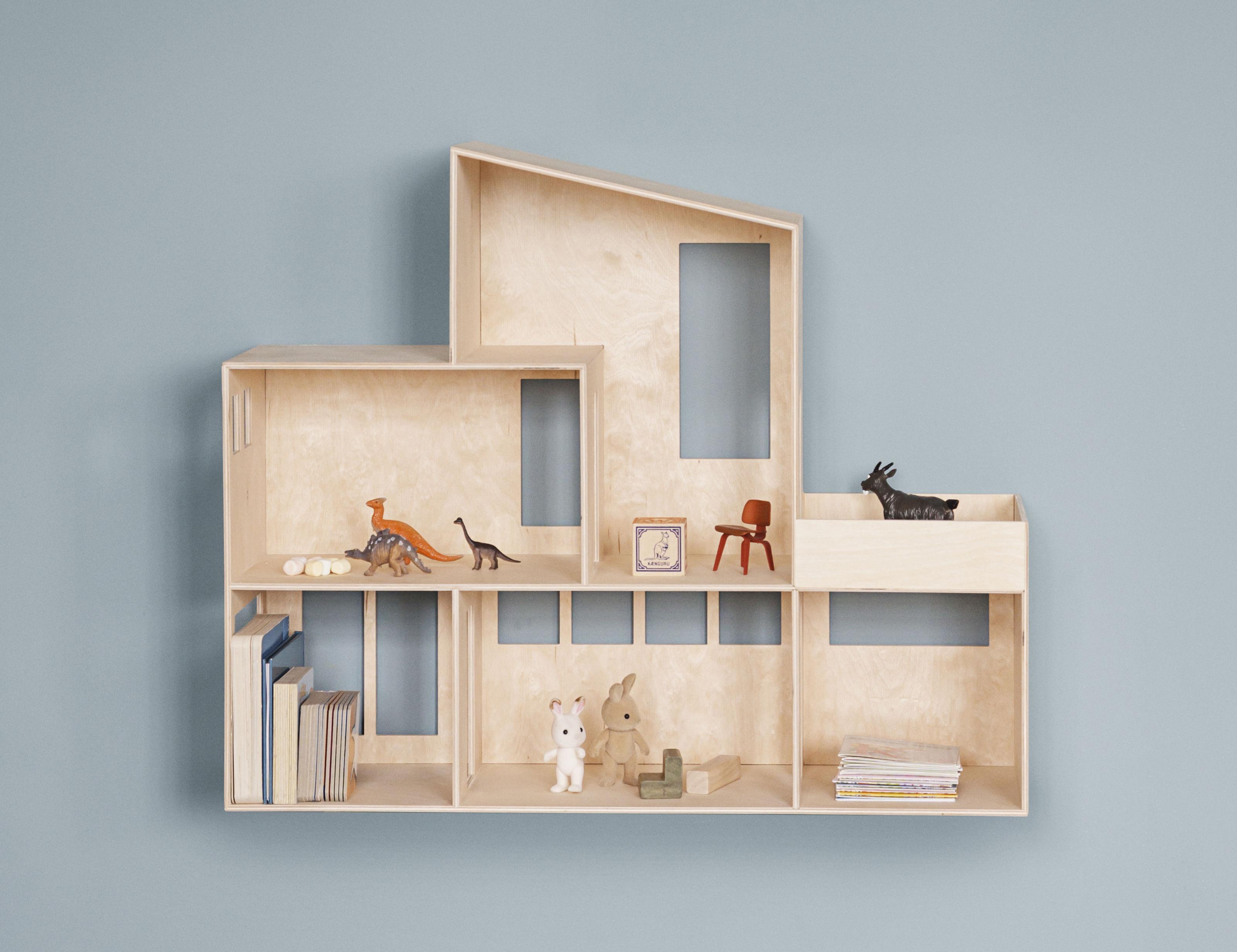 Funkis large scaffale casa delle bambole l 66 x h 55 cm legno