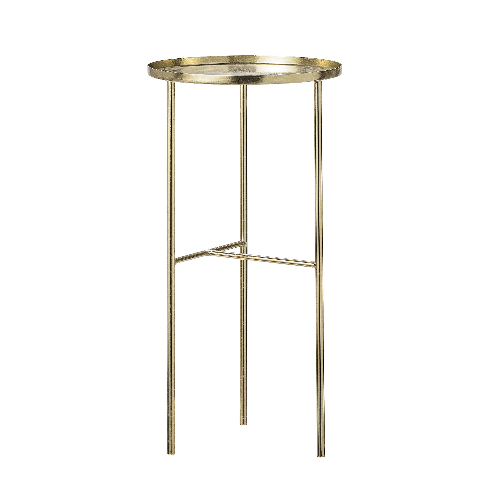 Furniture - Coffee Tables - Pretty Small table - / Plant stand - Ø 30 x H 60 cm by Bloomingville - Gold - Brass plated metal