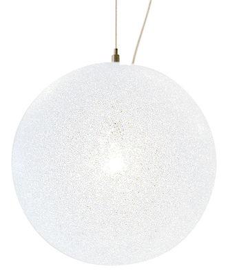 Suspension IceGlobe Ø 20 cm - Lumen Center Italia blanc en matière plastique