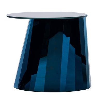 Table d'appoint Pli / H 48 cm - Métal & verre - ClassiCon bleu en métal/verre