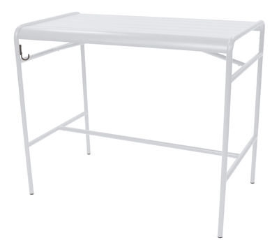 Table haute Luxembourg / 4 personnes - 126 x 73 cm - Aluminium - Fermob blanc coton en métal