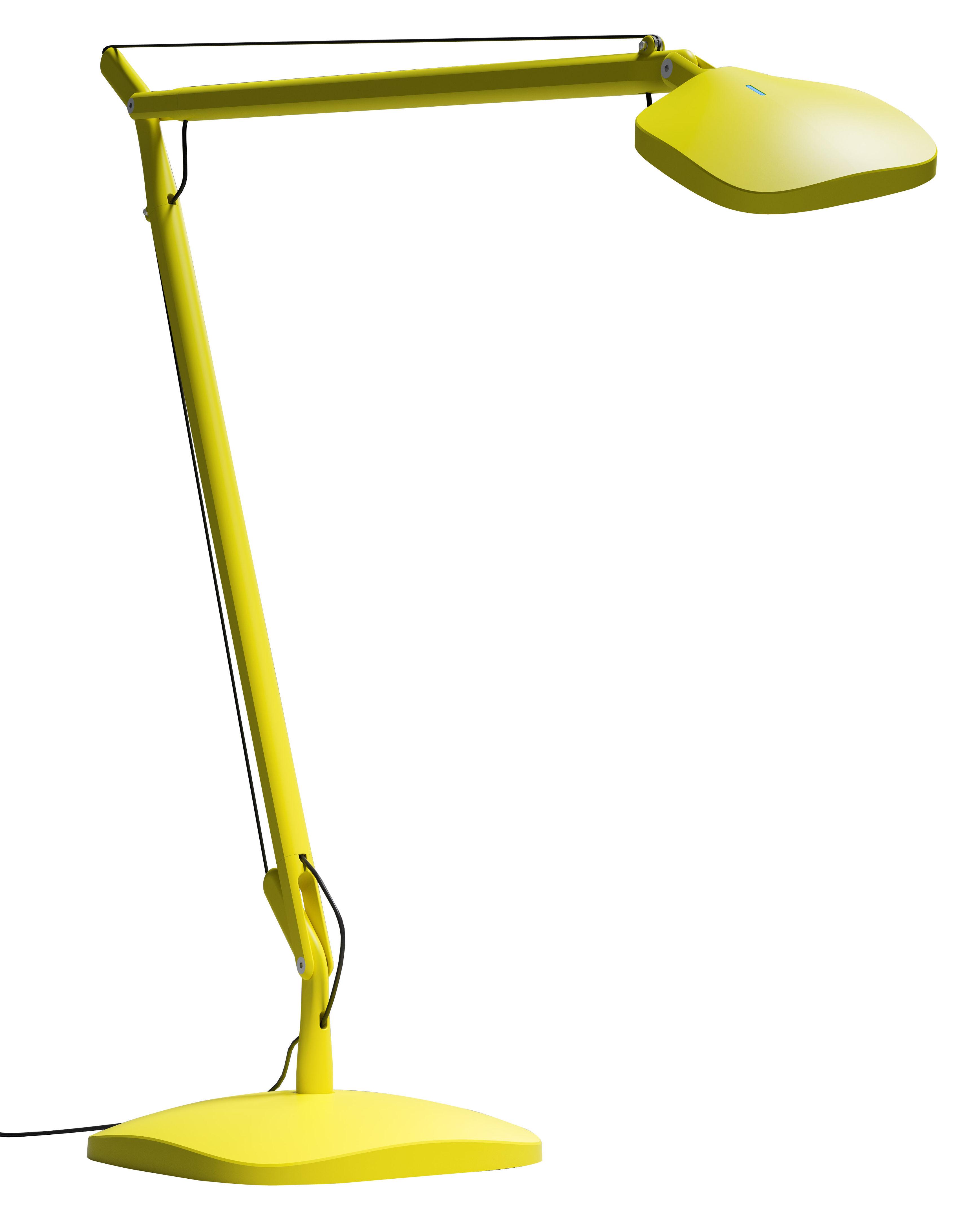 Lighting - Table Lamps - Volée LED Table lamp by Fontana Arte - Yellow - Aluminium