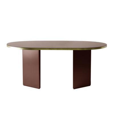 Table ovale Brandy / 220 x 100 cm - Verre - ENOstudio rouge en verre