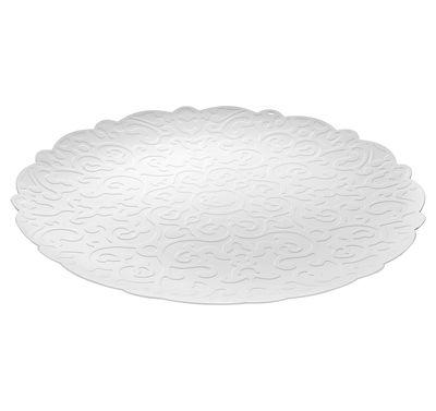 Tischkultur - Tabletts - Dressed Tablett Ø 35 cm / Platzteller - Alessi - Weiß - Acier inoxydable avec coloration résine époxy