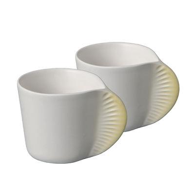 Tasse à café Morphose Set de 2 Ibride jaune mimosa en céramique
