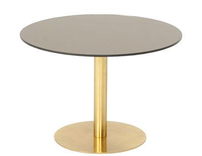 Arredamento - Tavolini  - Tavolino Flash - / Ø 60 cm di Tom Dixon - Bronzo / Oro - Ottone, Vetro con rivestimento in rame