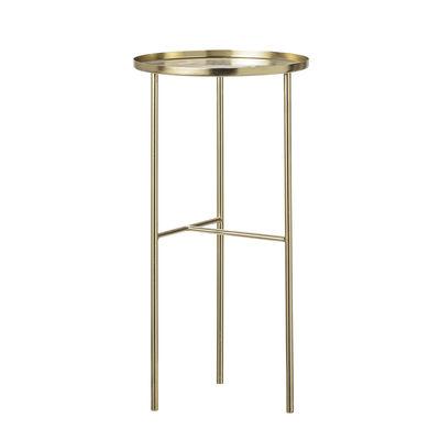 Arredamento - Tavolini  - Tavolino rotondo Pretty - / Supporto piante - Ø 30 x H 60 cm di Bloomingville - Or - Métal plaqué laiton