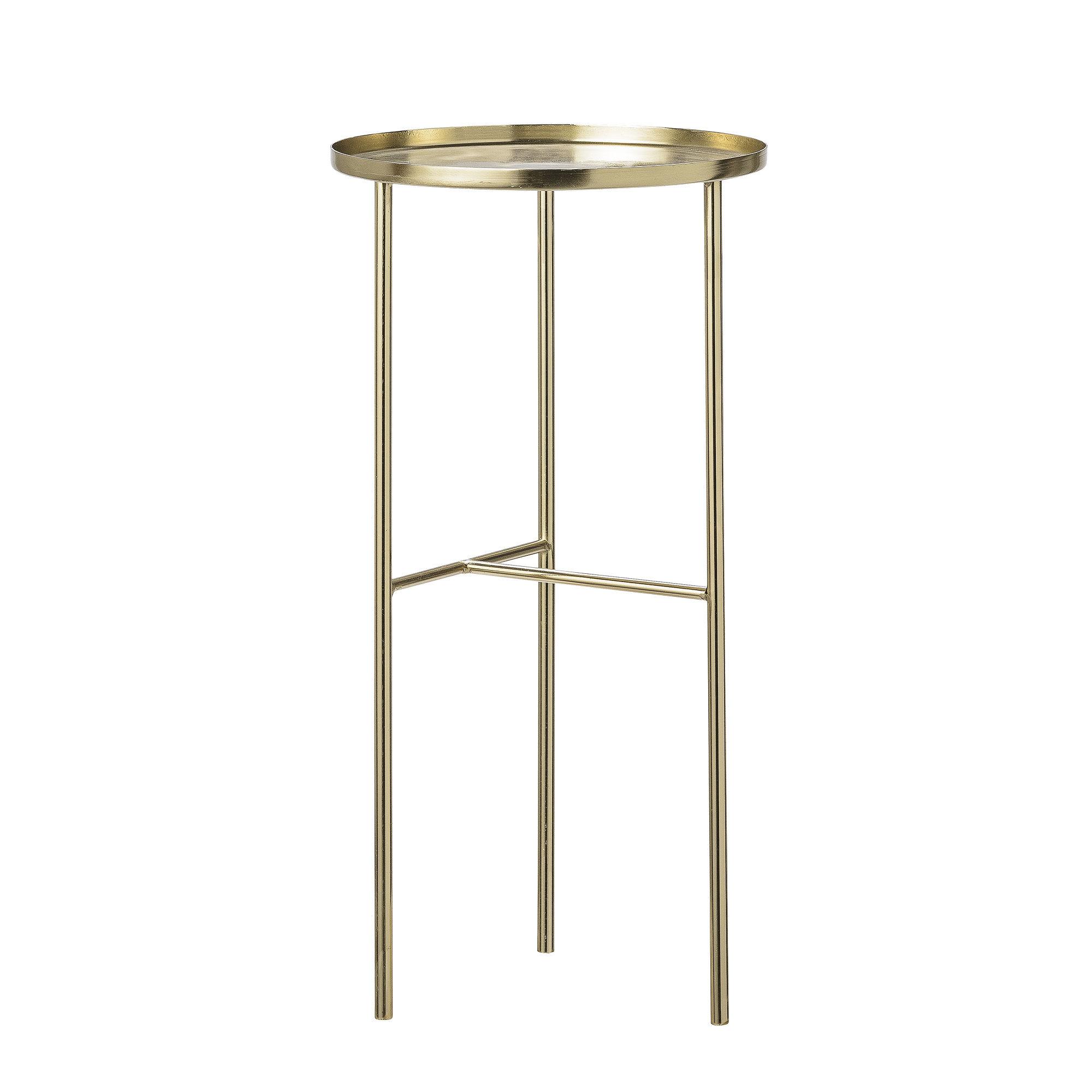 Arredamento - Tavolini  - Tavolino rotondo Pretty - / Supporto piante - Ø 30 x H 60 cm di Bloomingville - Or - Metallo placcato ottone