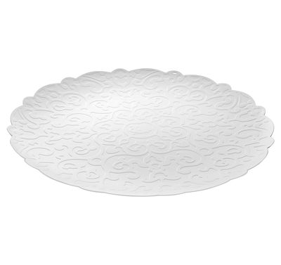 Tableware - Trays - Dressed Tray - Round Ø 35 cm by Alessi - White - Stainless steel epoxy coloration resin