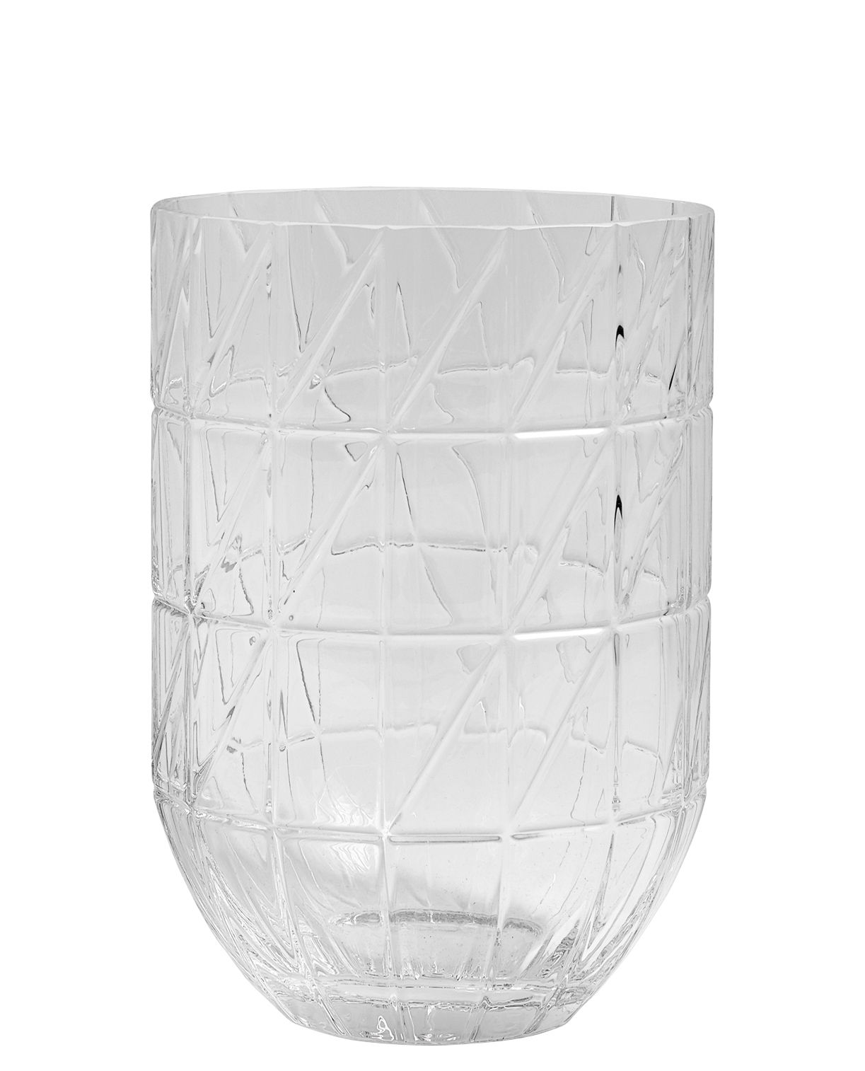 Decoration - Vases - Colour Large Vase - Ø 13 x H 27,5 cm by Hay - Transparent - Blown glass