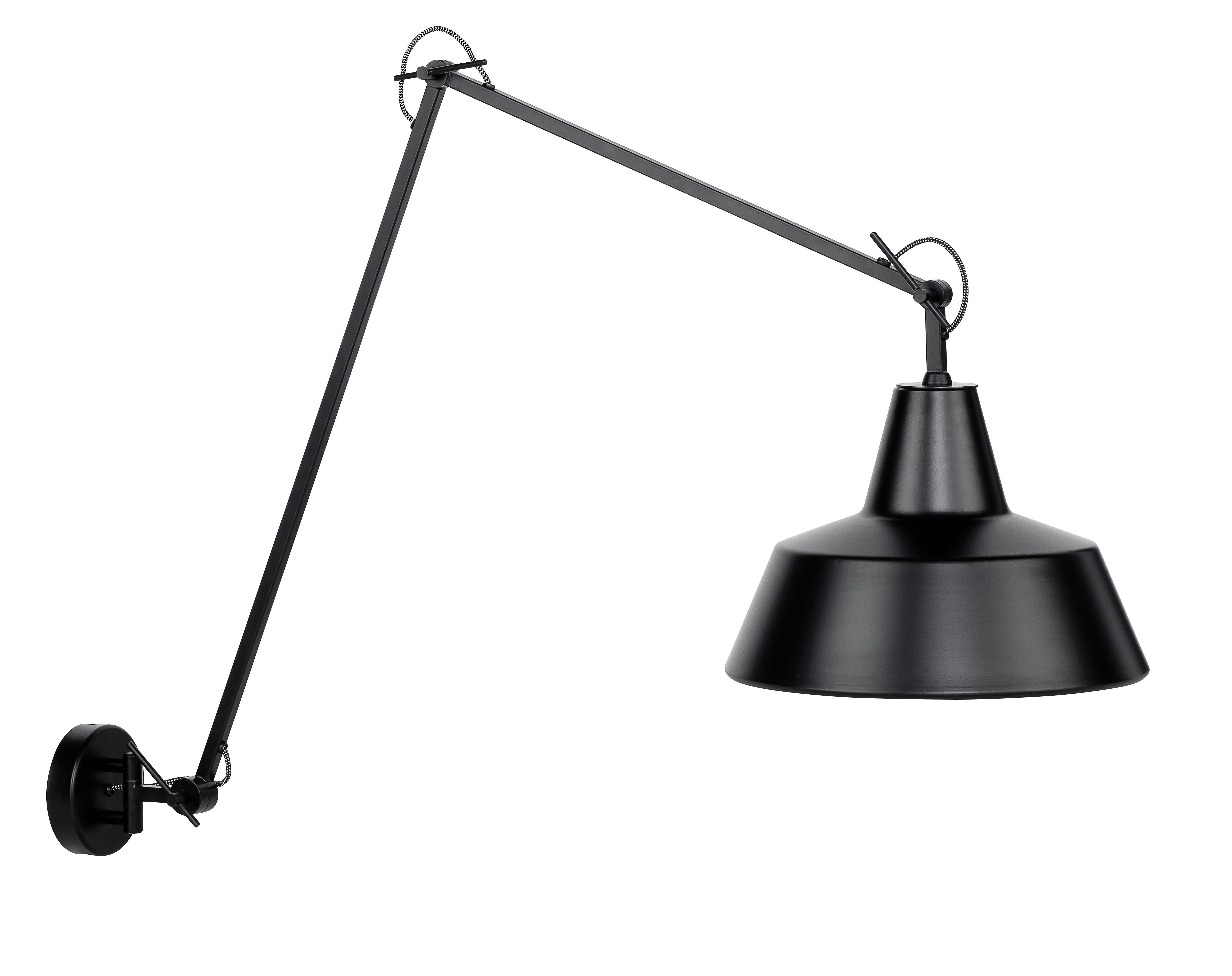 Its About Romi.Chicago Wall Light L 60 To 130 Cm Black By It S About Romi Made In