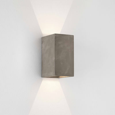 Lighting - Wall Lights - Oslo LED Wall light - / Concrete by Astro Lighting - Grey - Raw concrete