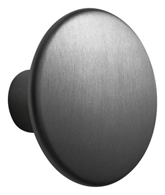 Arredamento - Appendiabiti  - Gancio The Dots Metal / Large - Ø 5 cm - Muuto - Nero - Acciaio verniciato