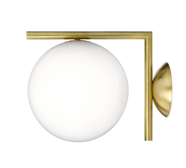 applique ic w1 20 cm laiton flos made in design. Black Bedroom Furniture Sets. Home Design Ideas
