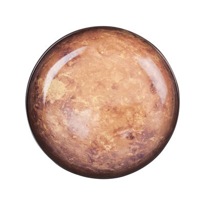 Assiette Cosmic Diner Mars / Ø 23,5 cm - Diesel living with Seletti marron en céramique