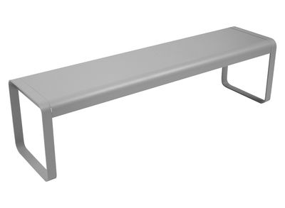 Furniture - Benches - Bellevie Bench - L 161 cm - 4 seaters by Fermob - Steel grey - Aluminium, Steel