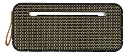 Father's day - Trendy high-tech accessories - aMOVE Bluetooth speaker - Wireless by Kreafunk - Black, Gold - Leather, Metal, Plastic material