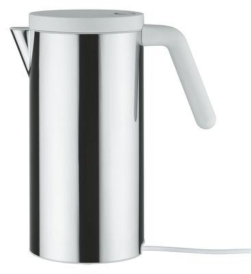 Cucina - Elettrodomestici - Bollitore elettrico Hot.it - 140 cl di Alessi - 140 cl - Acciaio & Bianco - Acciaio inossidabile, Resina termoplastica