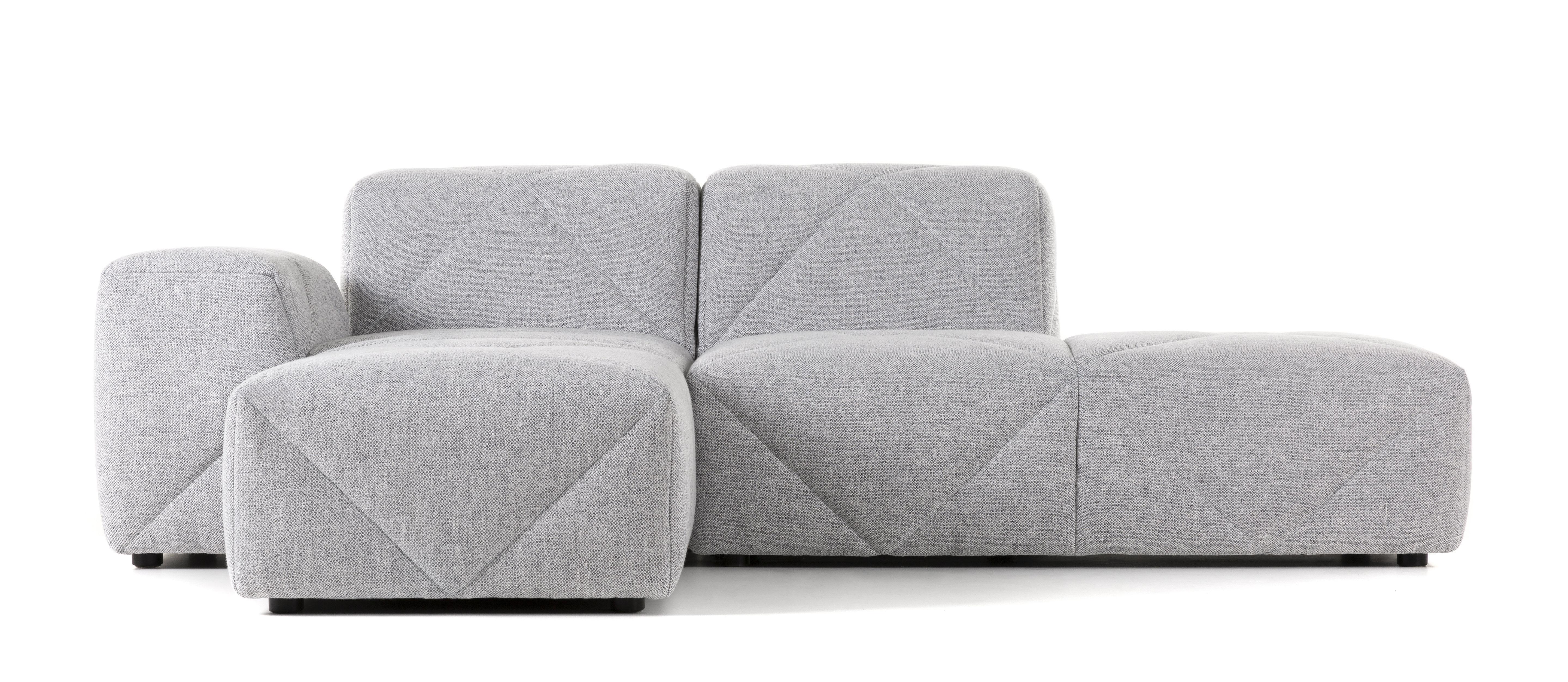 Mobilier - Canapés - Canapé d'angle BFF / Accoudoir gauche - L 221 - Moooi - Accoudoir gauche/ Gris - Bois, Mousse, Tissu