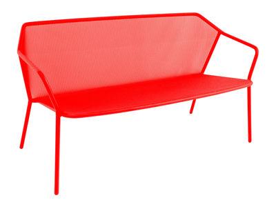 Canapé droit Darwin / Résille métal - L 140 cm - Emu rouge en métal