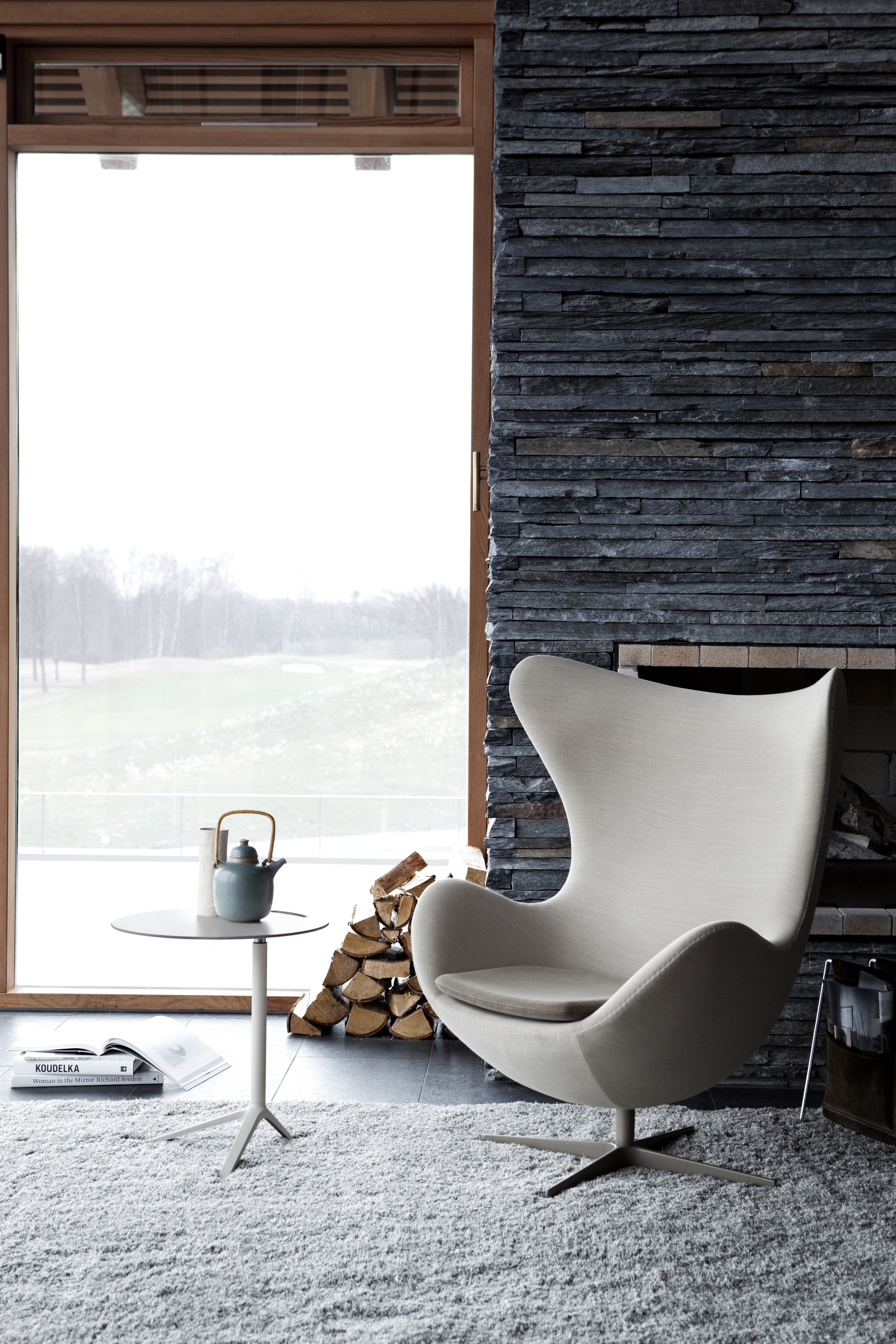 Egg Chair Leder Fritz Hansen Sessel