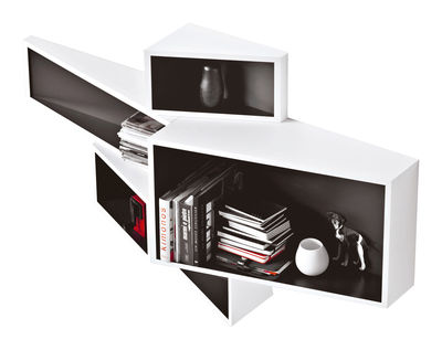 Etagère SheLLf /Petit modèle Bicolore - Kristalia blanc,noir en matière plastique