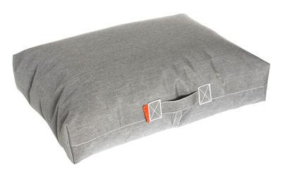 Furniture - Poufs & Floor Cushions - Felix Floor cushion - 80 x 56 cm by Trimm Copenhagen - Grey -  Microbilles EPS, Sunbrella canvas