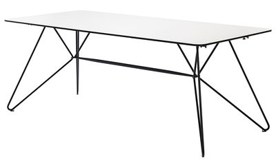 Sketch Gartentisch / 240 x 88 cm - Sperrholz - Houe - Weiß,Dunkelgrau