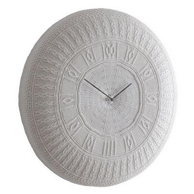 Horloge murale Gomitolo Medium / Coton - Ø 50 cm - Diamantini & Domeniconi blanc cassé en tissu