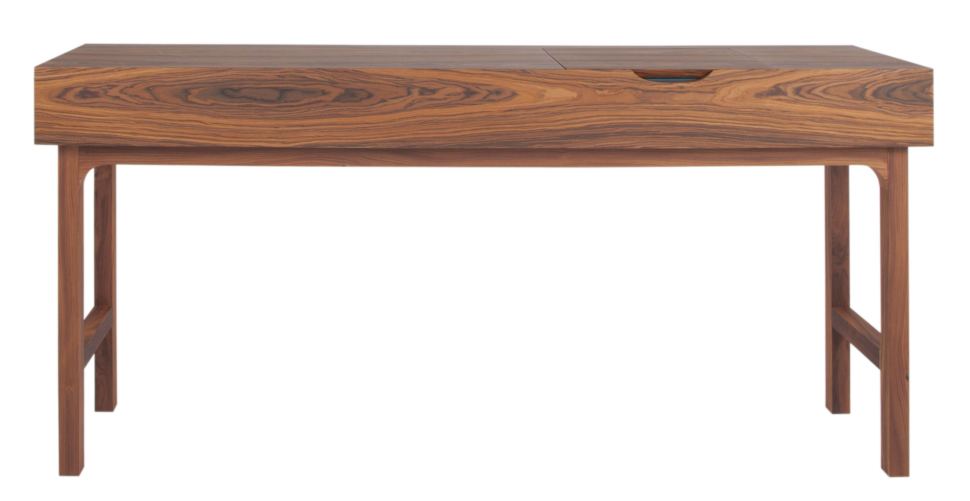 Möbel - Konsole - Le Roch Konsole / Frisiertischchen - Palisander - L 170 cm - Maison Sarah Lavoine - Palisander / Staufach blau - Placage palissandre