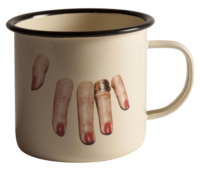 Arts de la table - Tasses et mugs - Mug Toiletpaper / Doigts coupés - Seletti - Doigts coupés - Métal émaillé