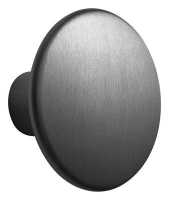 Mobilier - Portemanteaux, patères & portants - Patère The Dots Metal / Large - Ø 5 cm - Muuto - Noir - Acier peint