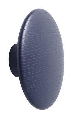 Patère The Dots Wood / Large - Ø 17 cm - Muuto bleu en bois