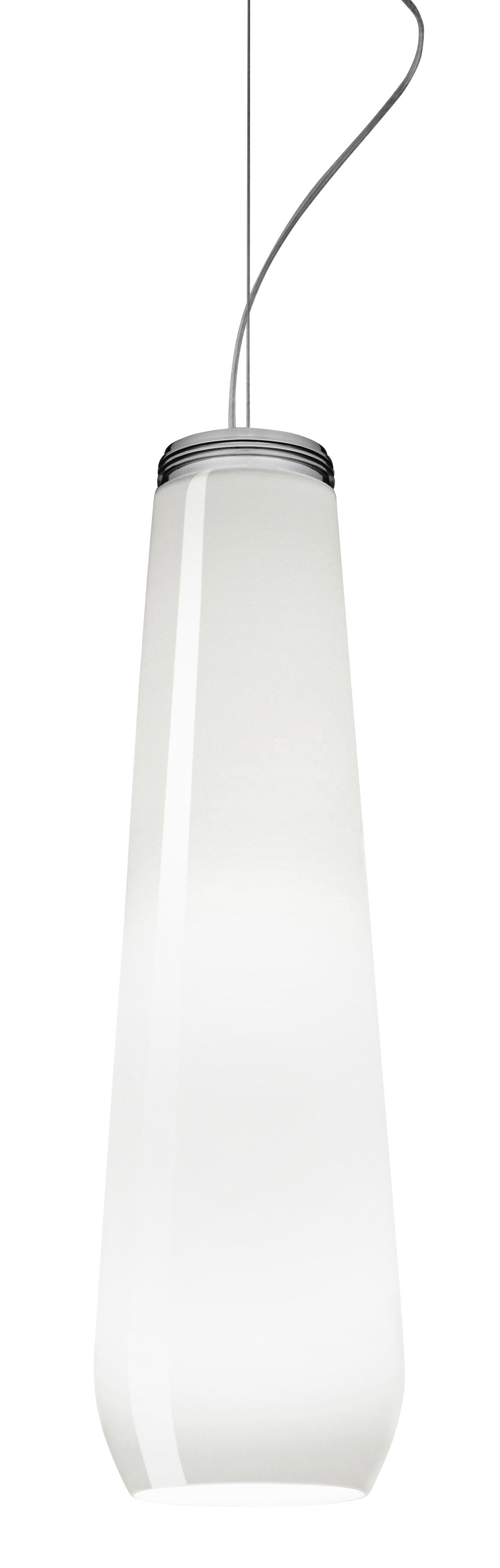 Lighting - Pendant Lighting - Glass Drop Pendant - Ø 13 x H 45 cm by Diesel with Foscarini - White - Blown glass, Thermoplastic