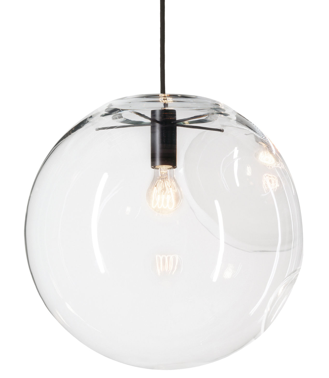 Leuchten - Pendelleuchten - Selene Pendelleuchte - ClassiCon - Ø 45 cm - Glas - lackiertes Metall, mundgeblasenes Glas