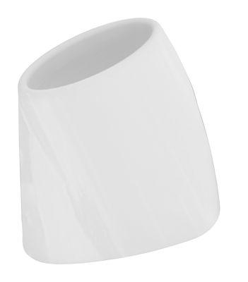 Pot de fleurs Tao M H 60 cm - Version laquée - MyYour blanc en verre/matière plastique